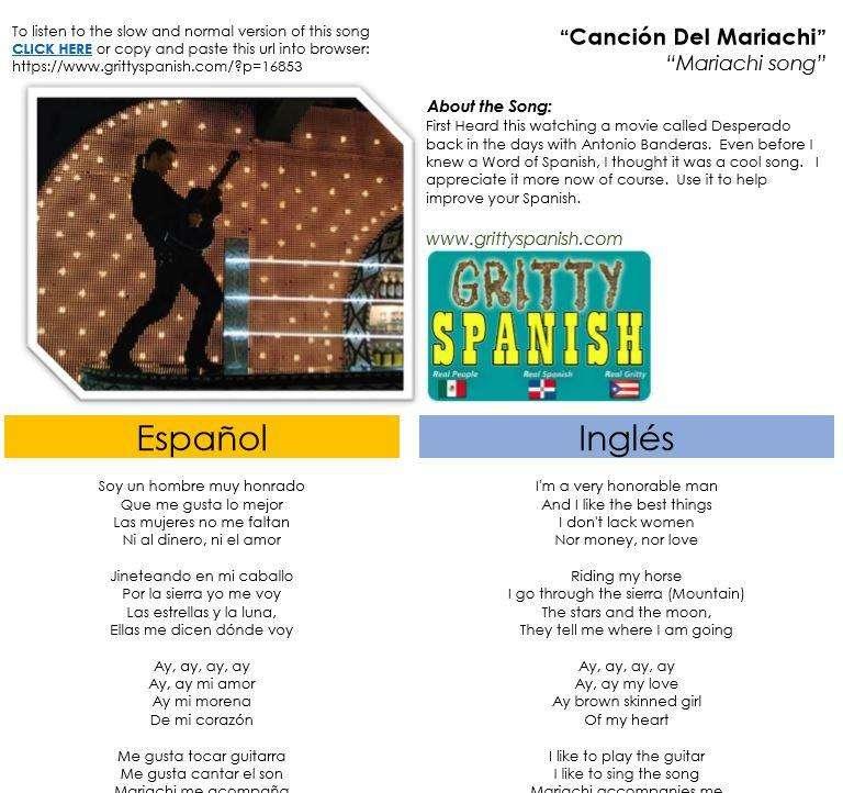 Antonio Banderas -Cancion del Mariachi with Lyrics in English ...