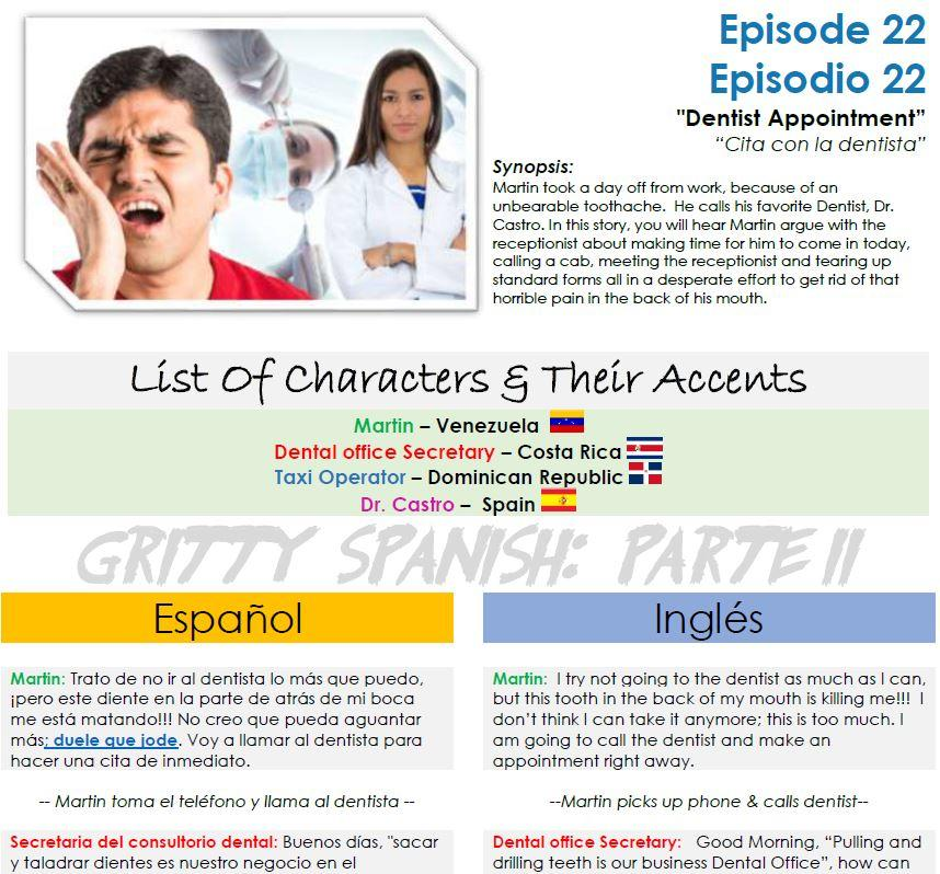 Gritty Spanish: Parte II - 7 Snippets from 7 different episodes