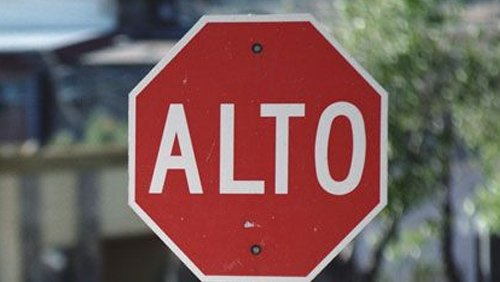 Alto - Stop sign in Spanish